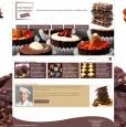 Création & intégration d'un design fictif sur le thème du chocolat puis intégration HTML/CSS